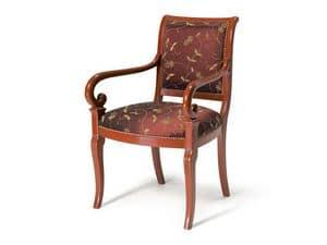 Art.467 armchair, Klassischen Stil Sessel, gepolsterten Sitz und Rückenlehne