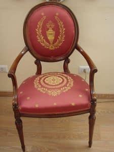 Art. 930, Klassischer Sessel für Esszimmer, dekoriert Stoff