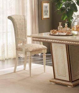 Fantasia Stuhl mit Armlehnen, Stuhl mit Armlehnen, im klassischen Stil