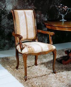 Regency Stühle mit Armlehnen, Esszimmerstuhl mit Armlehnen