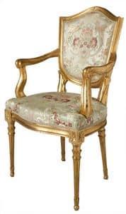 STULH ART. SD 0003, Kopfende des Tisches Stuhl im venezianischen Stil, gepolstert