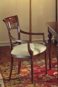 Voltaire Stuhl Kopf des Tisches, Stuhl Kopf des Tisches, satiniertem mit Wachs, für ristorants