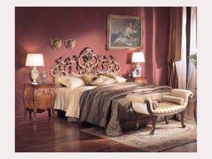 3245 BENCH, Gepolsterte Bank mit Rollen, Luxus klassischen Stil