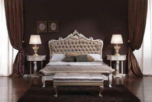 3645 BETT, Zugeknöpft Doppelbett ideal für Hotels und Zimmer