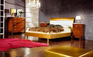 80-16 Bett, Blattgold Bett
