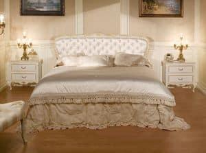Art. 1070, Bett mit gesteppten Kopfteil, Luxus im klassischen Stil