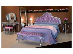 Art. 1770 Grace, Geschnitzten Bett, in Samt bedeckt, für Schlafzimmer