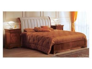 Art. 2026/279/P '800 Francese Luigi Filippo, Klassischen Stil Bett, gepolsterte Kopfteil, zum Luxushotel