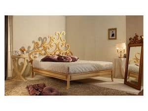 Art. 3300 Ricciolo, Bed Luxus klassisch, in Buche, Blattgold Finish