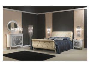 Art. 610 Bett, Prächtige Bett, in Leder, für klassische Schlafzimmer
