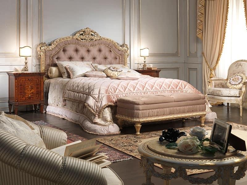 Art. 907 Bett, Stil Louis XV Bett, für Luxus-Schlafzimmer mit Doppelbett