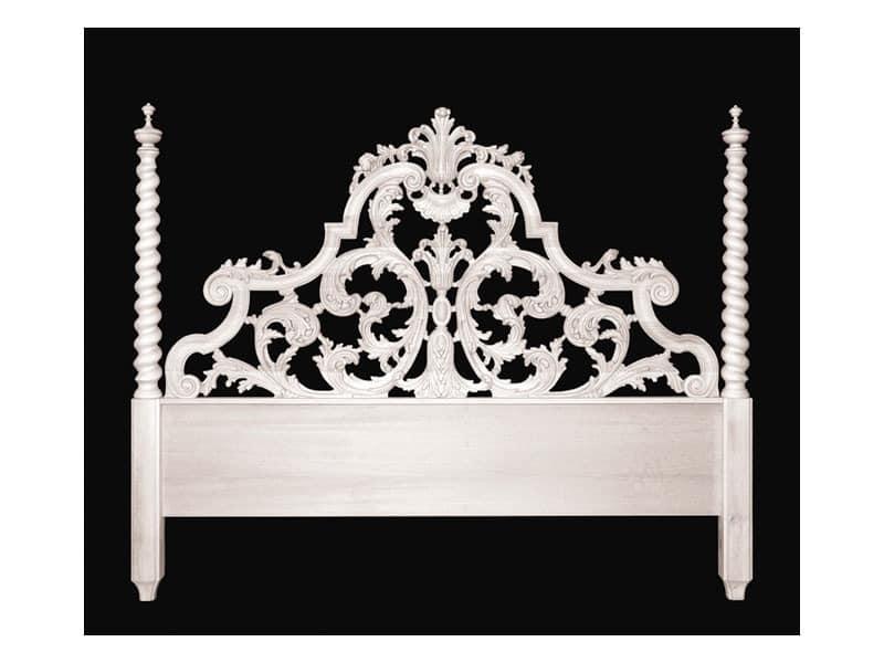 Bed art. 75/a Special, Klassischen Stil Bett mit Kopfteil mit zwei Spalten
