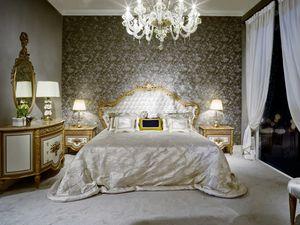 Bett 3700 Luis XVI Stil, Luxusbett im Louis XVI-Stil