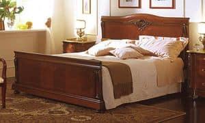 Canova bett, Bett in Nussbaum, in der klassischen Luxus-Stil Intarsien