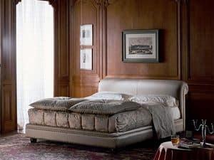 Caravaggio, Luxus klassischen Bett gepolstert, für Hotelzimmer