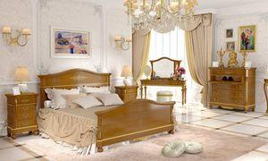 Carlotta Bett, Klassisches Bett aus Walnussholz