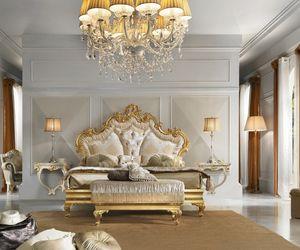Diamante Art. 2101, Bett mit wunderschönen Schnitzereien