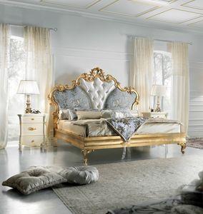 Diamante Art. 2401, Luxuriöses goldfarbenes Bett
