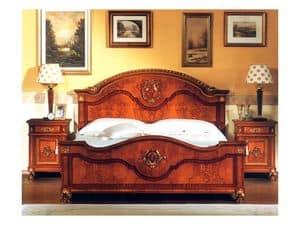 DUCALE DUCLE / Doppelbett, Doppelbett mit Kopf-und Fußteil aus Esche