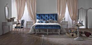 Easy Bett, Klassisches Bett mit Capitonnè-Kopfteil