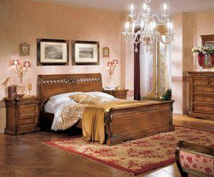 I Dogi di Venezia DOGI-E615, Bett mit eingelegten Paneelen