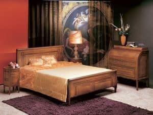 L304 Renoir Bett, Doppelbett, gebogenem Holz, klassischen Stil