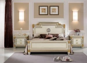 Liberty Bett, Luxusbett im klassischen stlye, mit handgefertigten Dekorationen, hochwertigen Materialien