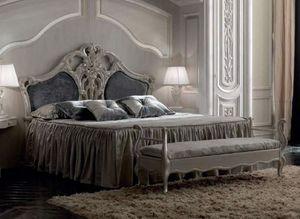 Luigi XVI Art. TES02, Klassisches Bett mit wertvollen Dekorationen