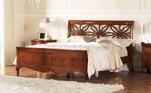 Olympia perforierte Bett, Bett mit Kopfteil perforiert, handgefertigt
