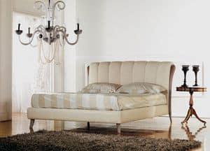 Ikarus Bett, Luxury klassische Bett, Holzeinlage mit Decapè Polier