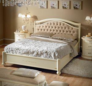 Siena gepolstertes Bett, Bett im klassischen Stil