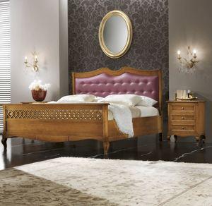 Traforo gepolstertes Bett, Bett mit gepolstertem Kopfteil