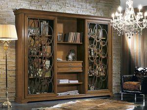 Armonie Bücherregal, Bücherregal mit Schiebetüren