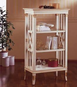 Art. 202, Kleines Bücherregal aus Holz, Blattgold Dekorationen, für Wohnzimmer