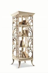 Art. 750, Drehbares Bücherregal aus Holz für Wohnzimmer im klassischen Stil