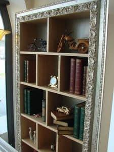 Art. 902, Hängebücherschrank in Eiche gebürstet, für Klassiker Wohnzimmer