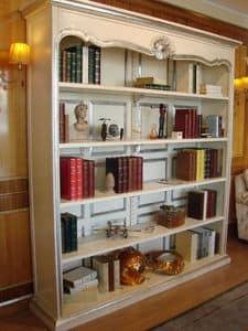 Art. 944, Lackiert Bücherregal, Silber trimmen, für zu Hause