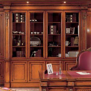 Bücherregal 1910, Bücherregal im klassischen Stil für das Büro