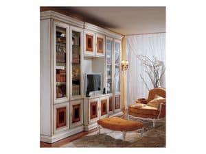 Display bookcase 731 A, Luxury klassische Bücherregal aus Holz