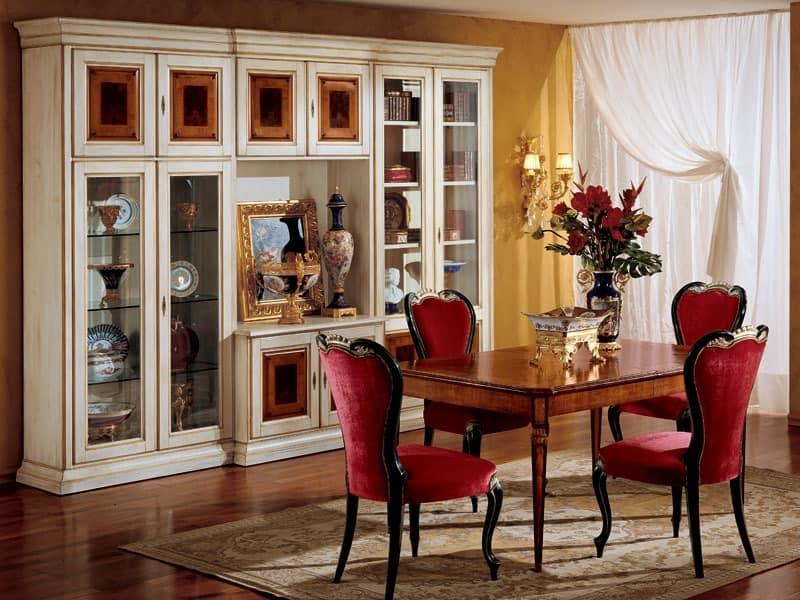 Display bookcase 731 A2, Luxury klassische Bücherregal aus Holz