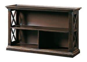 Gemma FA.0093, Bücherregal mit 2 Böden, Oberflächen von Hand gemacht