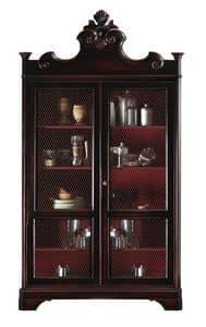 Lorraine BR.0052.A, Bücherschrank mit 2 Türen, 4 verstellbare Fachböden, zur klassischen Luxus Wohnzimmer