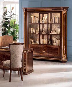 Modigliani 3 Türen Bücherregal, Majestätisches Bücherregal mit harmonischen Formen