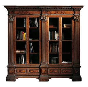 Sillano ME.0124, Klassisches Bücherregal mit korinthischen Kapitellen