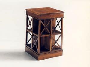 Stevenson, Klassischer Bücherschrank aus Holz, drehbar, aus massivem Mahagoni
