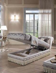 PRINCIPE dormeuse, Klassisches Tagesbett mit Aufbewahrungsmöglichkeit