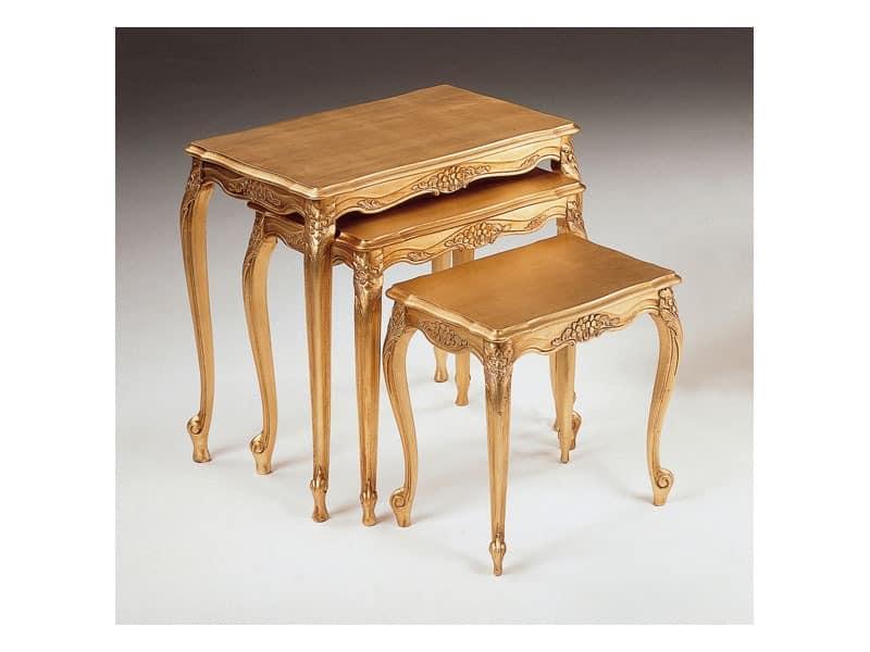 Art. 252, Luxus kleine Tische, handgeschnitzt, für Hotel