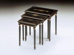 Art. 260 Jelena, Klassische kleine Tische in verarbeitetem Holz, für Hotel-Suite
