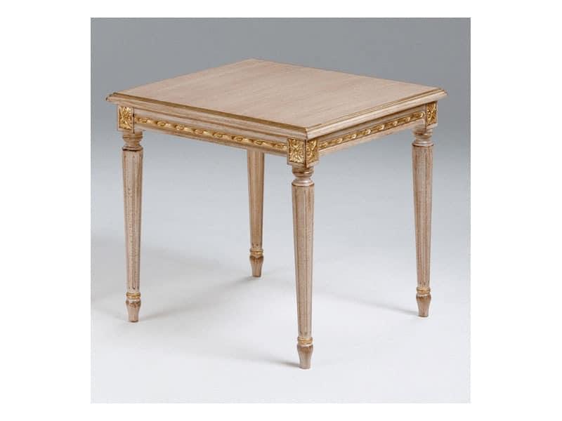 Art. 261/55, Couchtisch aus Holz für klassische Wohnzimmer, Louis XVI-Stil