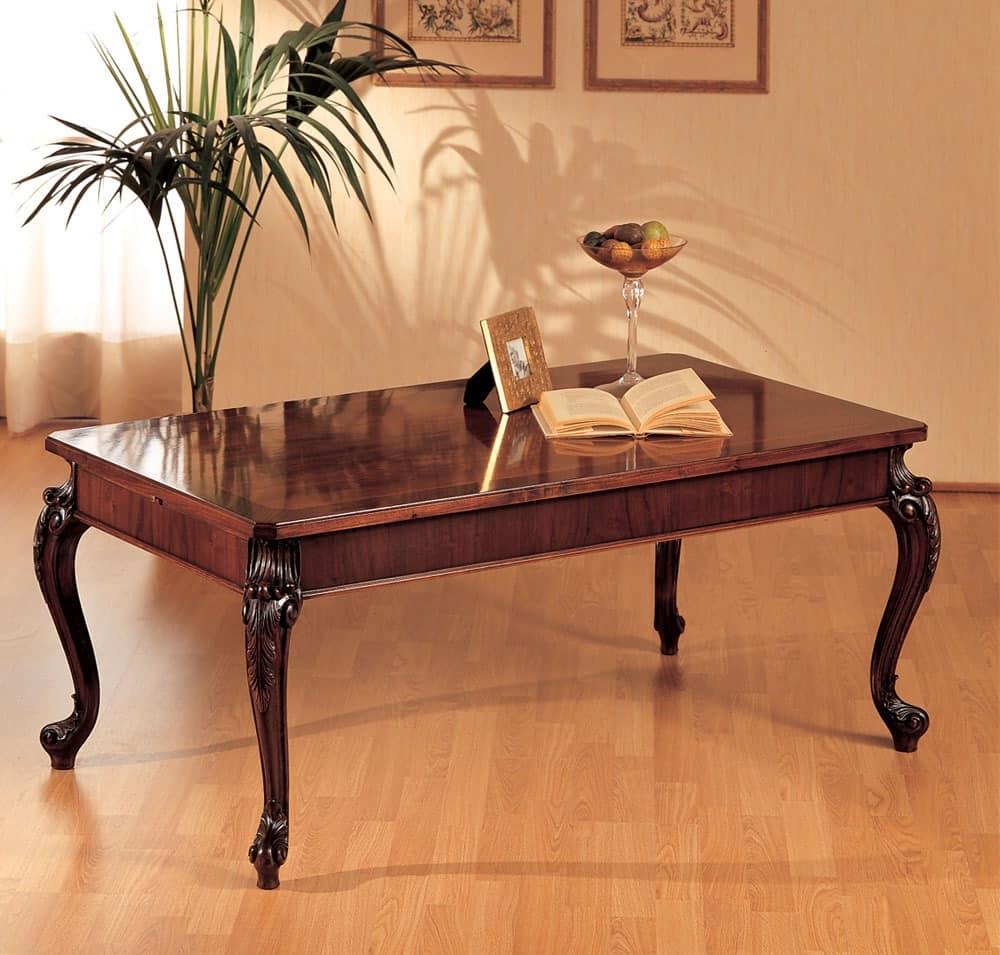 Art. 294/R, Holztisch, geschnitzten Beinen, für klassische Wohnkultur